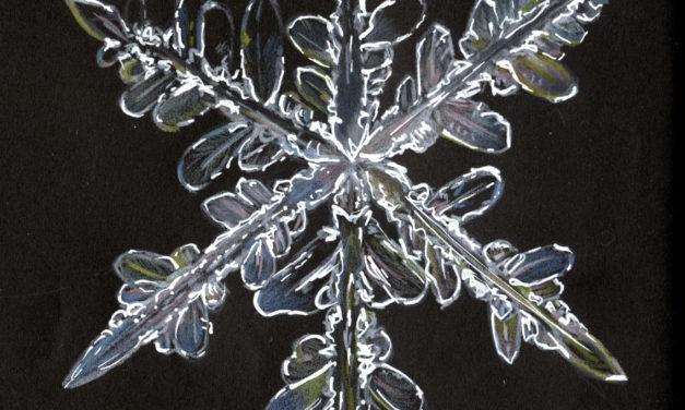 Black Sketchbook: Schneeflocke/ Snowflake