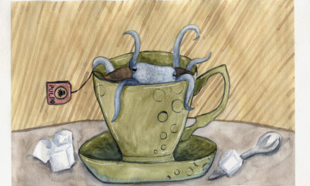 Aquarell Illustration: Ein Tee mit Frank/ Watercolor Illustration: Tea with Frank