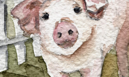 Aquarell: Ferkel / Watercolor Painting: Piglet