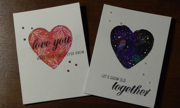 Valentinstagskarten/ Cards for Valentines Day