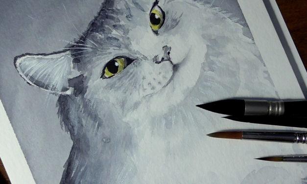 Mal mit mir: Süße Katze/ Paint With Me: Fluffy Cat