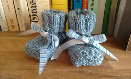 Anleitung Babyschühchen ohne Nähen/Instructions for babybooties without sewing